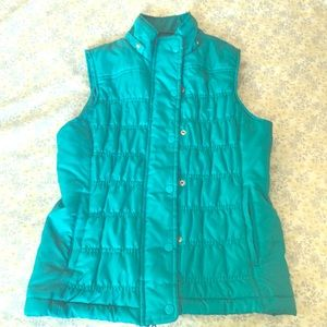 Turquoise Button-Up Jacket